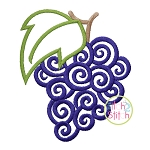 Scroll Grapes Embroidery