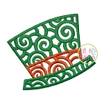 Scroll Leprechaun Hat Embroidery