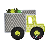 Shamrock Dump Truck Applique