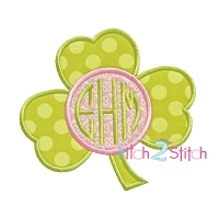 Shamrock Monogram Applique Frame