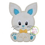 Sitting Bunny Boy 2 Applique