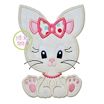 Sitting Bunny Girl 2 Applique