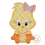 Sitting Chick Girl 2 Applique