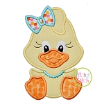 Sitting Duck Girl Applique