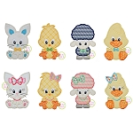 Sitting Easter Critters Set Applique