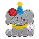 Sitting Circus Elephant Applique