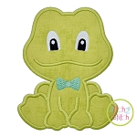 Sitting Frog Boy Applique