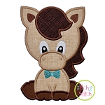 Sitting Horse Boy Applique