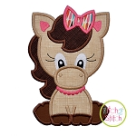 Sitting Horse Girl Applique