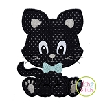 Sitting Kitty Boy Applique