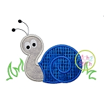 Snail in Grass Applique