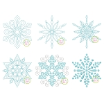 Snowflake Embroidery Design Set