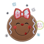 Snowflake Gingerbread Girl Applique