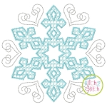 Snowflake Motif Embroidery