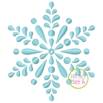 Snowflake Satin Embroidery