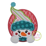 Snowgirl Oval Applique