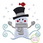 Snowman and Bird Applique