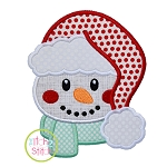Snowman Fluffy Hat Applique