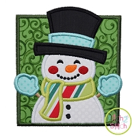 Snowman Square Applique