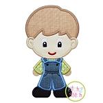 Standing Farm Boy Applique