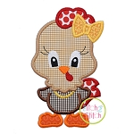 Standing Hen Girl Applique