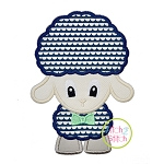 Standing Lamb Boy Applique
