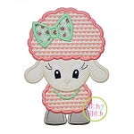 Standing Lamb Girl Applique