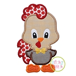 Standing Rooster Boy Applique