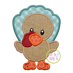 Standing Turkey Boy Applique