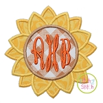 Sunflower Monogram Applique Frame