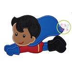 Superhero Flying Boy Applique