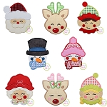 Sweet Christmas Faces Applique Set