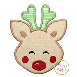 Sweet Deer Face Boy Applique