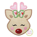 Sweet Deer Face Girl Applique