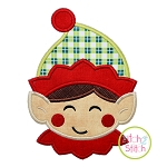 Sweet Elf Face Boy Applique