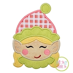 Sweet Elf Face Girl Applique
