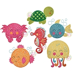 Sweet Sea Critters Applique Set