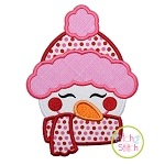 Sweet Snowgirl Face Applique