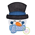 Sweet Snowman Face Applique