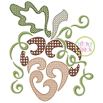 Swirly Acorn Motif Embroidery