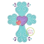 Swirly Cross Applique