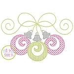 Swirly Ornament Trio Motif Embroidery
