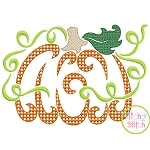 Swirly Pumpkin Motif Embroidery