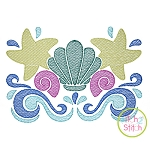 Swirly Seashells Sketch Embroidery