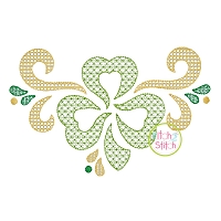 Swirly Shamrock Motif Embroidery