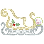Swirly Sleigh Motif Embroidery