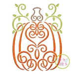 Swirly Tall Pumpkin Embroidery