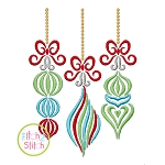 Swirly Vintage Ornaments Embroidery
