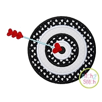 Target with Heart Arrow Applique
