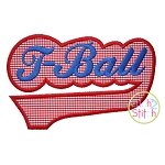 T-Ball Sport Tail Applique